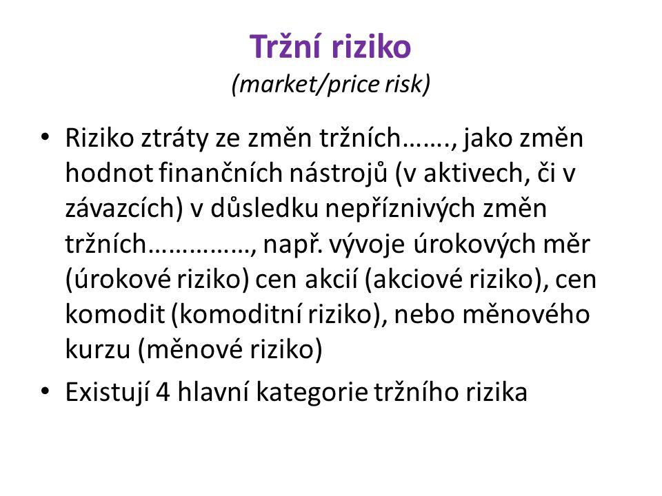 Tržní riziko (market/price risk)