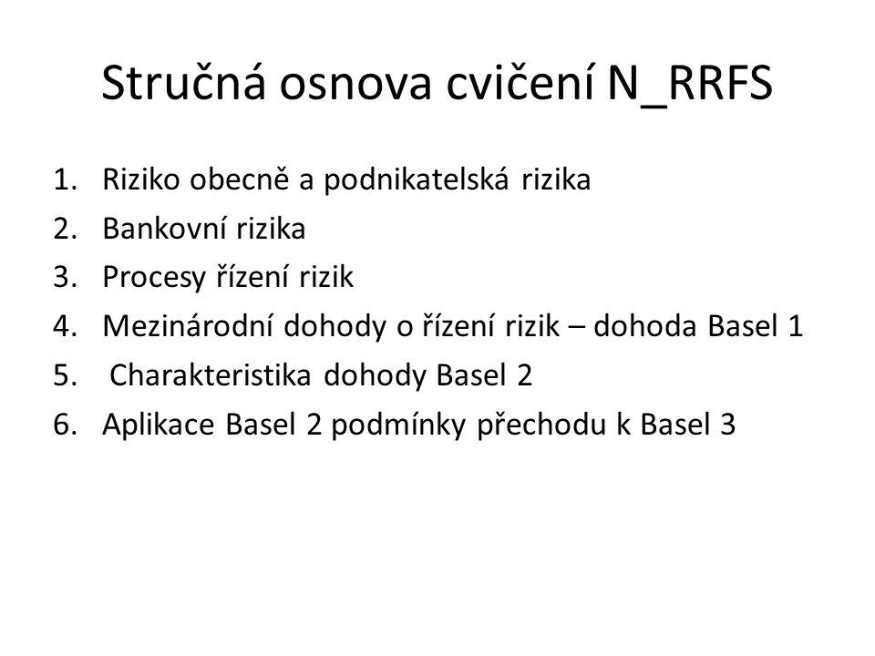 Stručná osnova cvičení N_RRFS