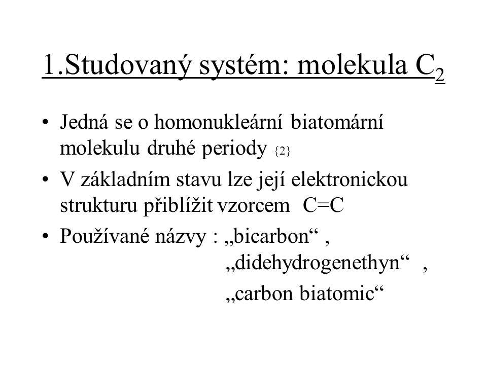 1.Studovaný systém: molekula C2