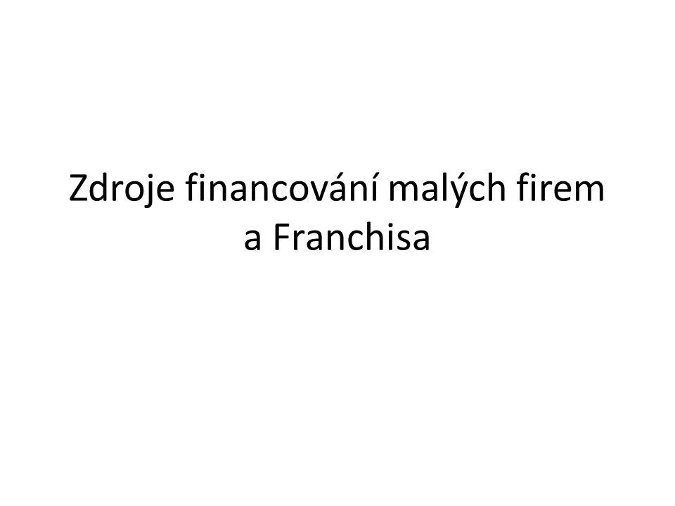 Zdroje financování malých firem a Franchisa