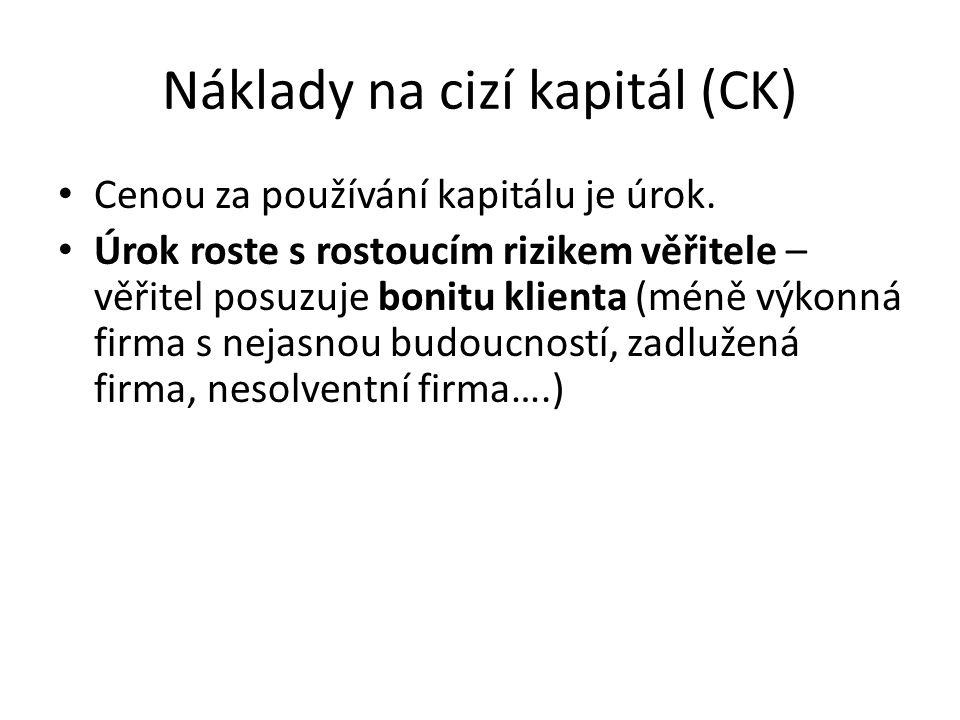 Náklady na cizí kapitál (CK)