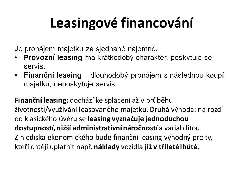 Leasingové financování