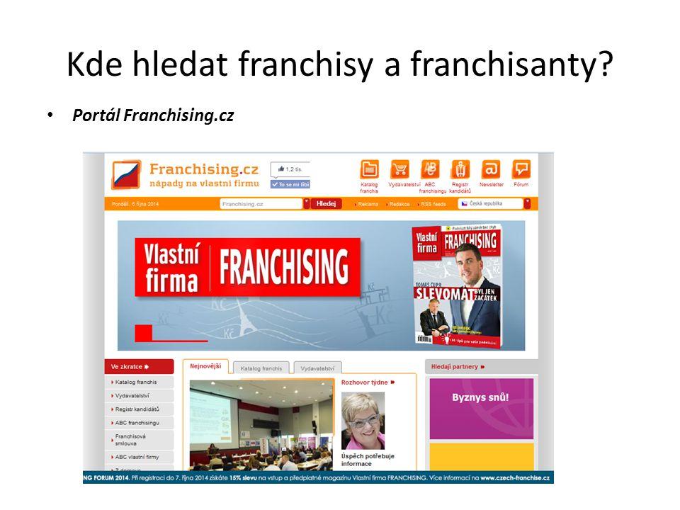 Kde hledat franchisy a franchisanty