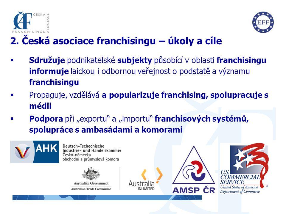 2. Česká asociace franchisingu – úkoly a cíle