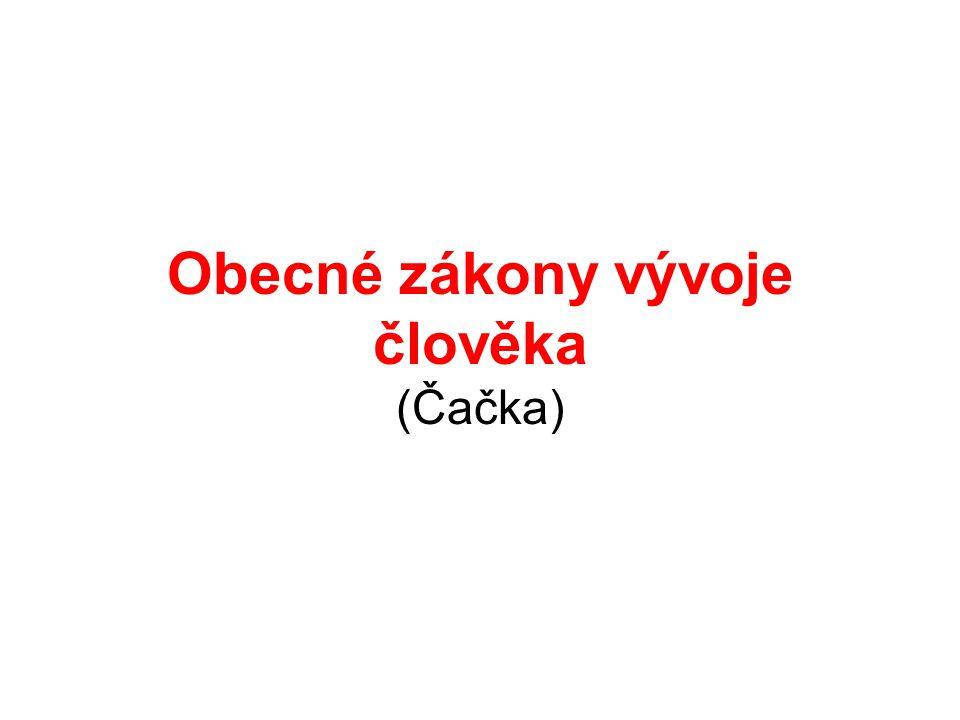 Obecné zákony vývoje člověka (Čačka)