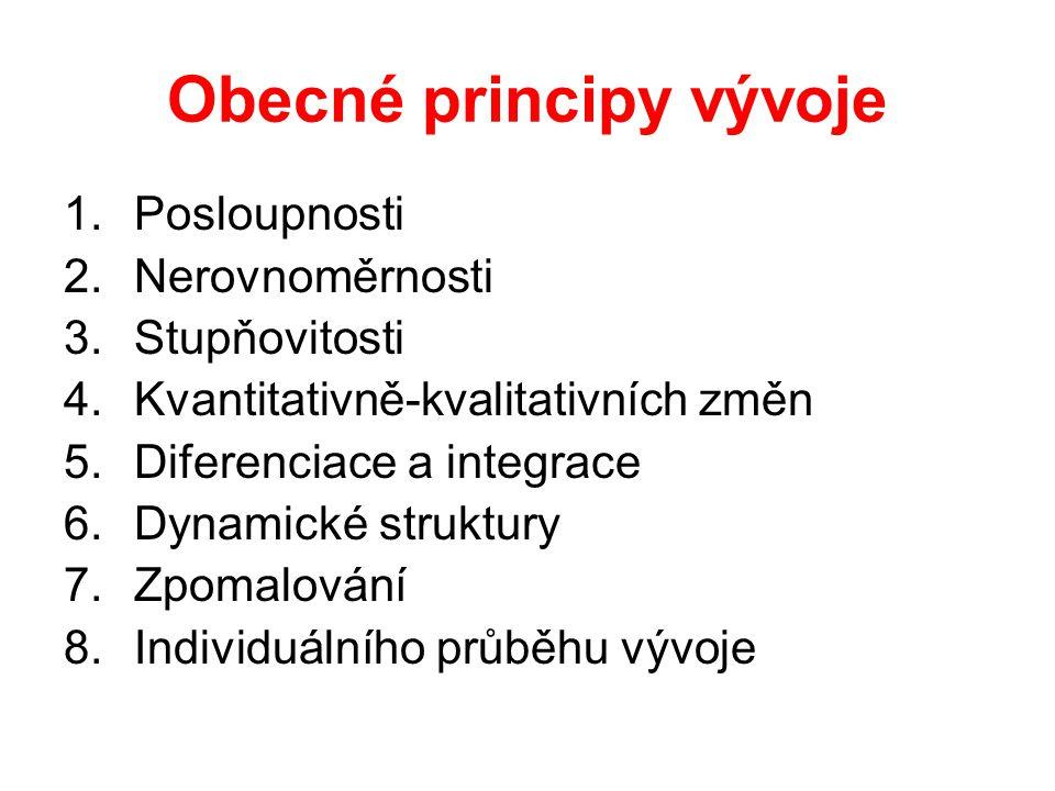 Obecné principy vývoje