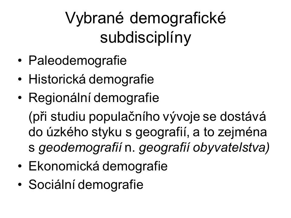 Vybrané demografické subdisciplíny