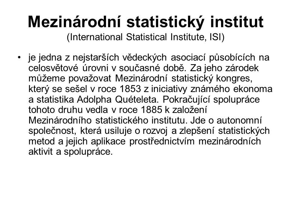 Mezinárodní statistický institut (International Statistical Institute, ISI)