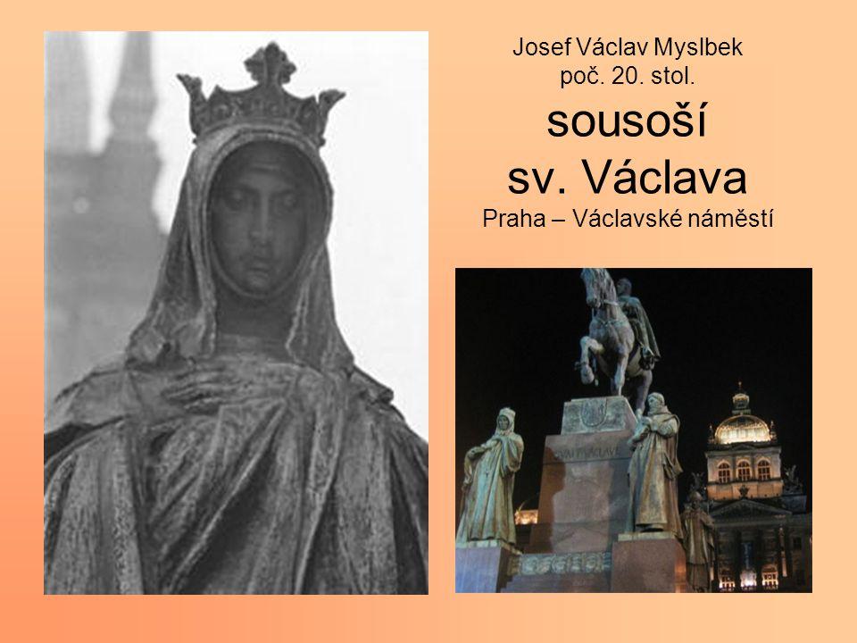 Josef Václav Myslbek poč. 20. stol. sousoší sv