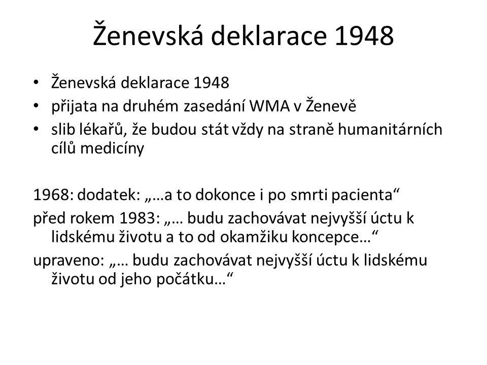 Ženevská deklarace 1948 Ženevská deklarace 1948