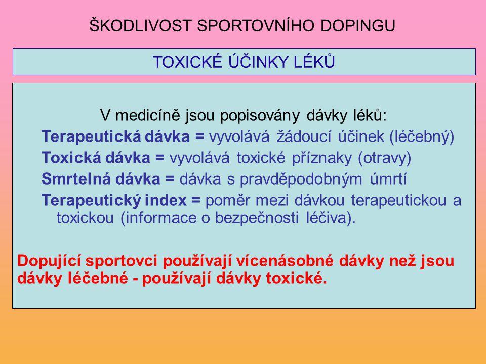 V medicíně jsou popisovány dávky léků: