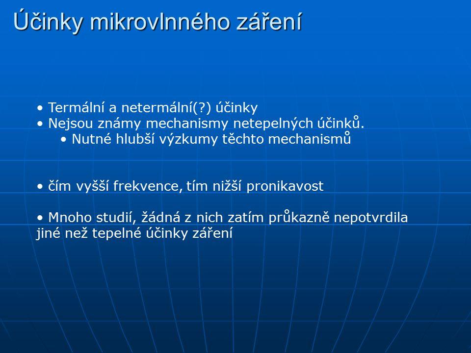 Účinky mikrovlnného záření