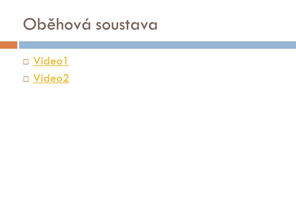 Oběhová soustava Video1 Video2