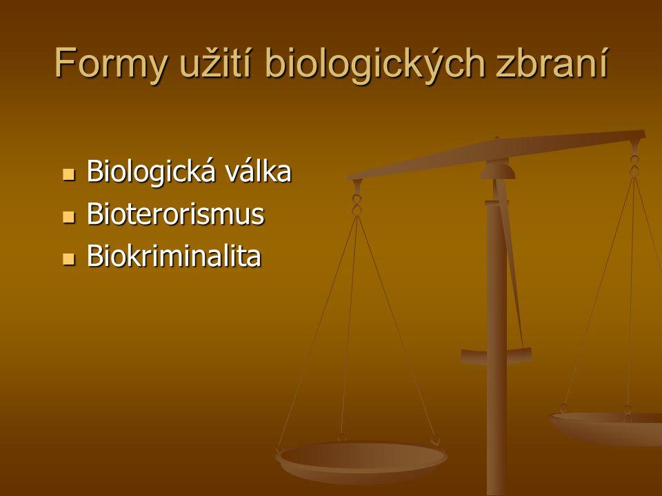 Formy užití biologických zbraní