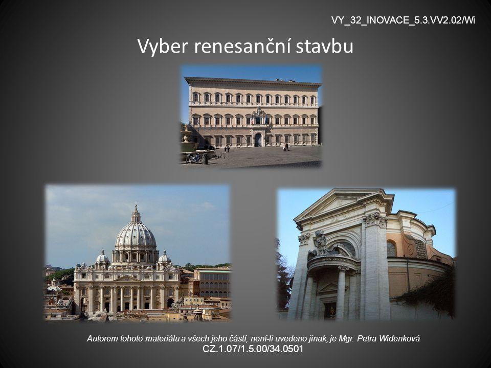 Vyber renesanční stavbu
