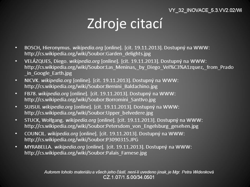 VY_32_INOVACE_5.3.VV2.02/Wi Zdroje citací.