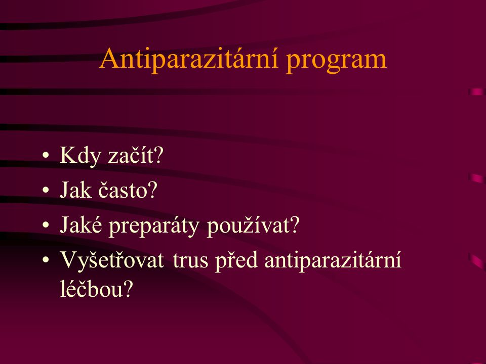 Antiparazitární program