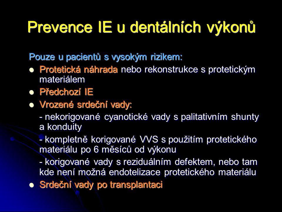 Prevence IE u dentálních výkonů