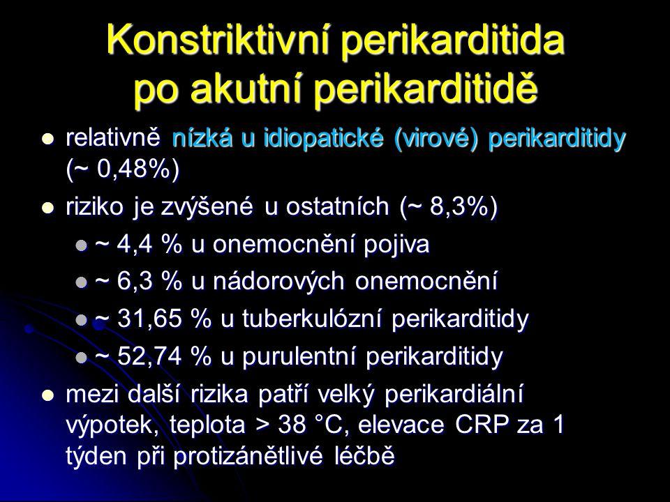 Konstriktivní perikarditida po akutní perikarditidě