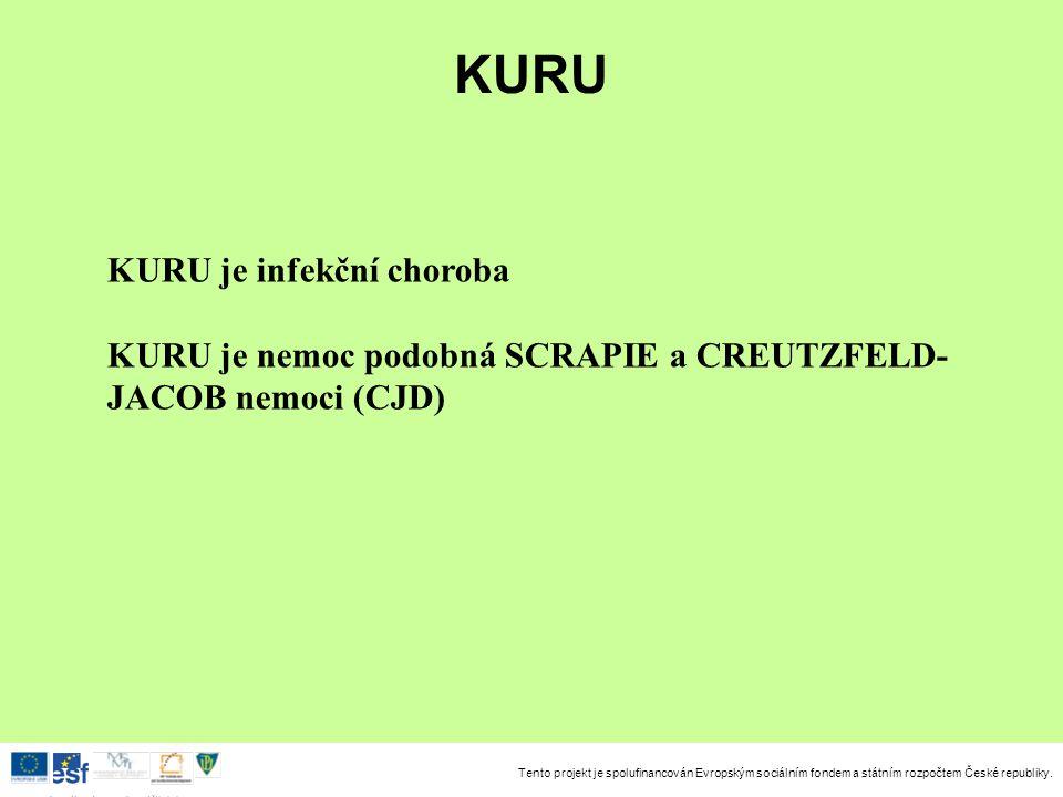 KURU KURU je infekční choroba