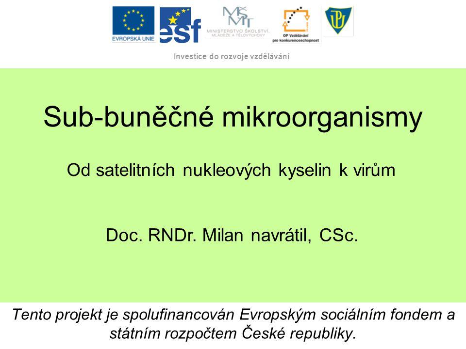 Sub-buněčné mikroorganismy