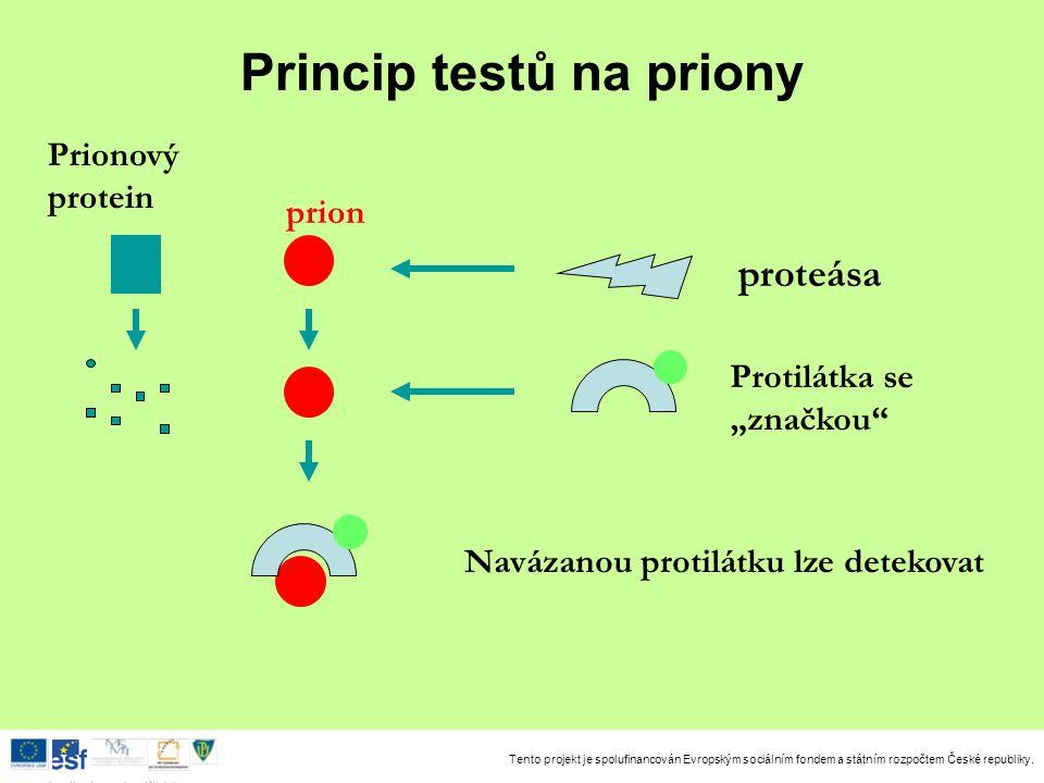 Princip testů na priony