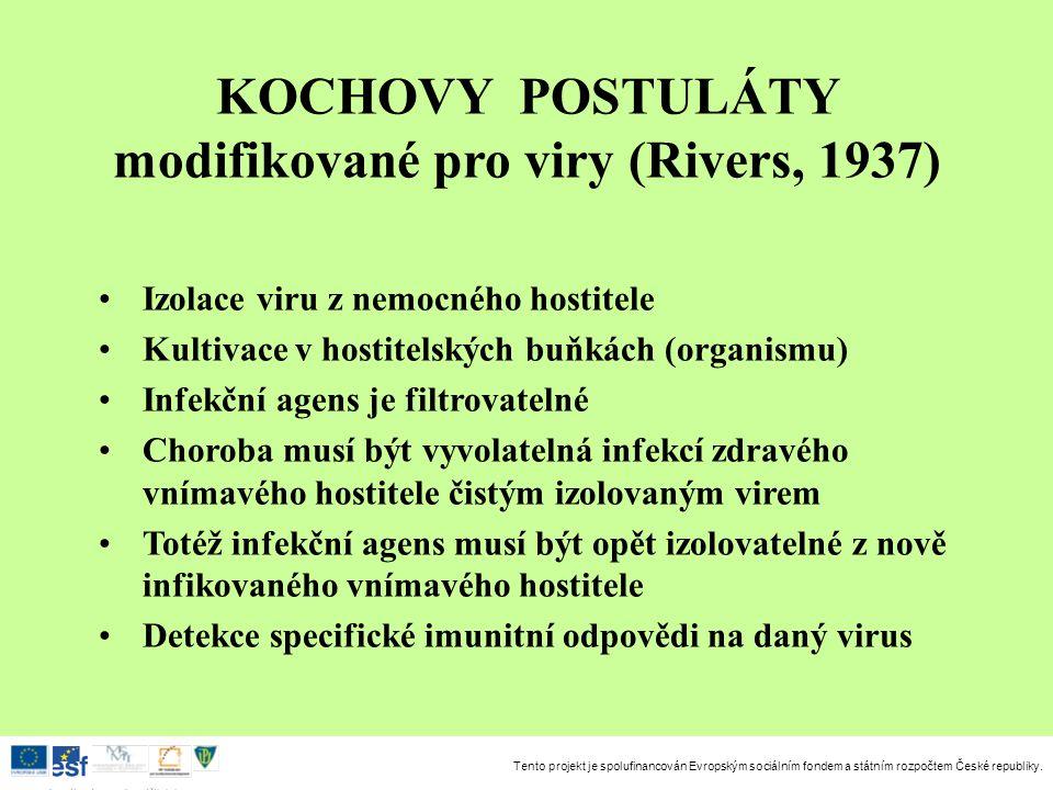 modifikované pro viry (Rivers, 1937)