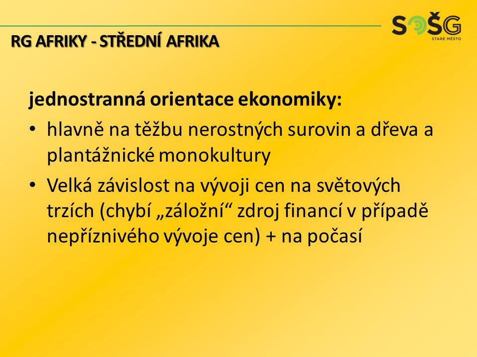 jednostranná orientace ekonomiky: