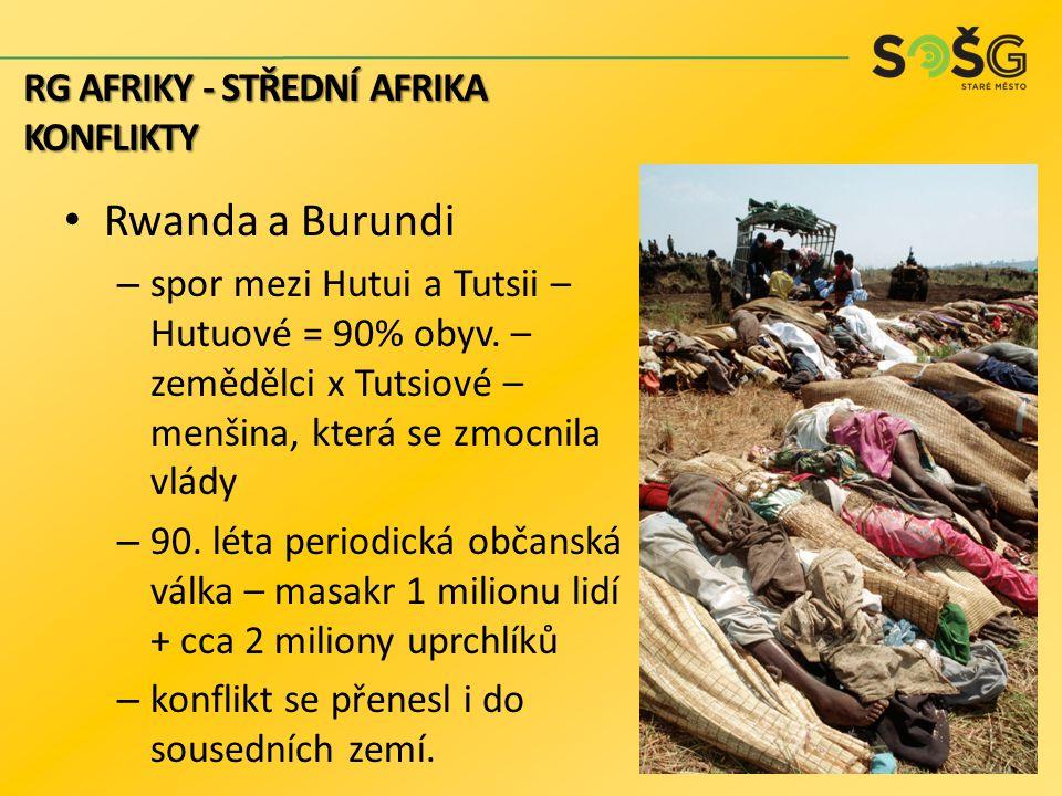 Rwanda a Burundi RG AFRIKY - STŘEDNÍ AFRIKA konflikty