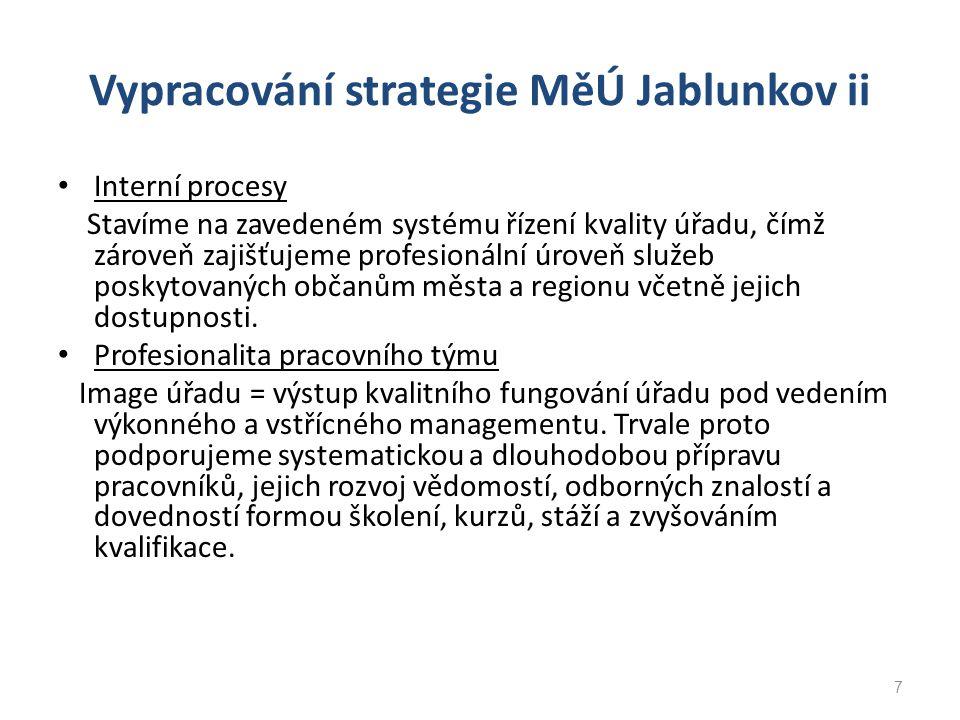 Vypracování strategie MěÚ Jablunkov ii