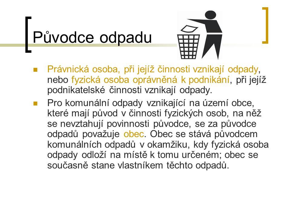 Původce odpadu