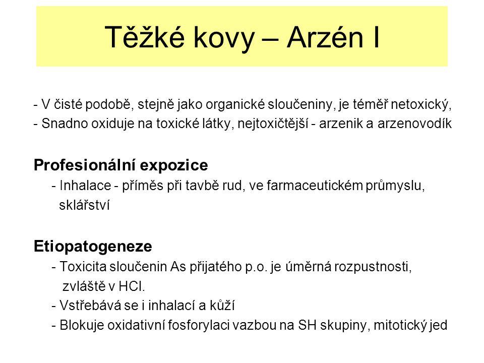 Těžké kovy – Arzén I Profesionální expozice Etiopatogeneze