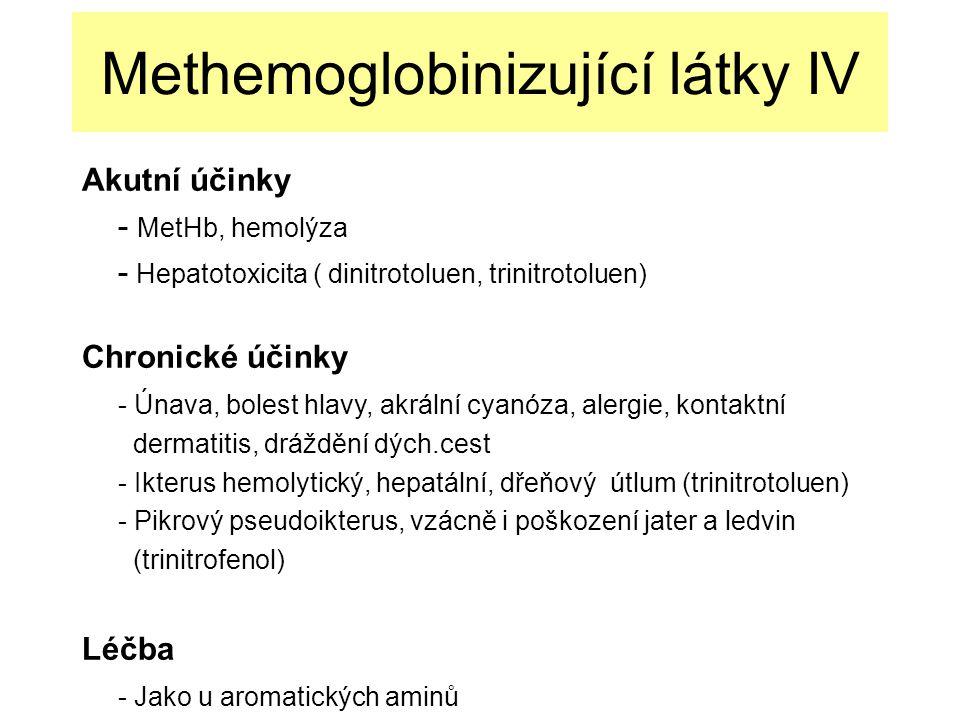 Methemoglobinizující látky IV