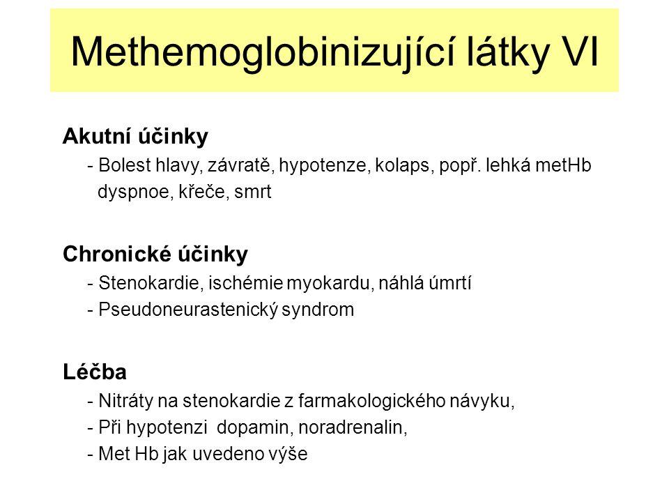 Methemoglobinizující látky VI