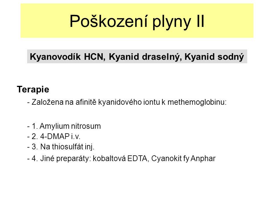 Poškození plyny II Kyanovodík HCN, Kyanid draselný, Kyanid sodný