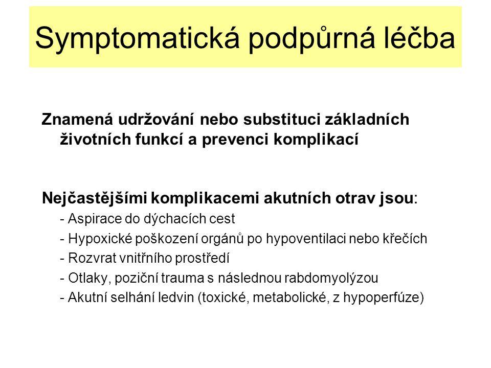 Symptomatická podpůrná léčba