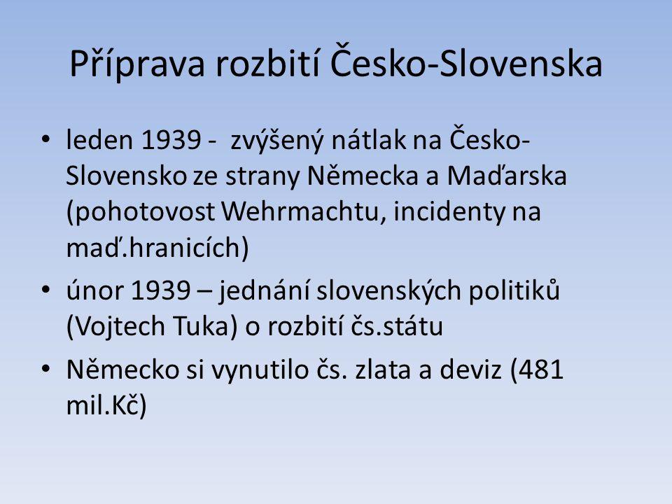Příprava rozbití Česko-Slovenska