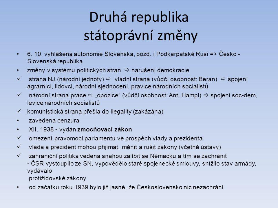 Druhá republika státoprávní změny