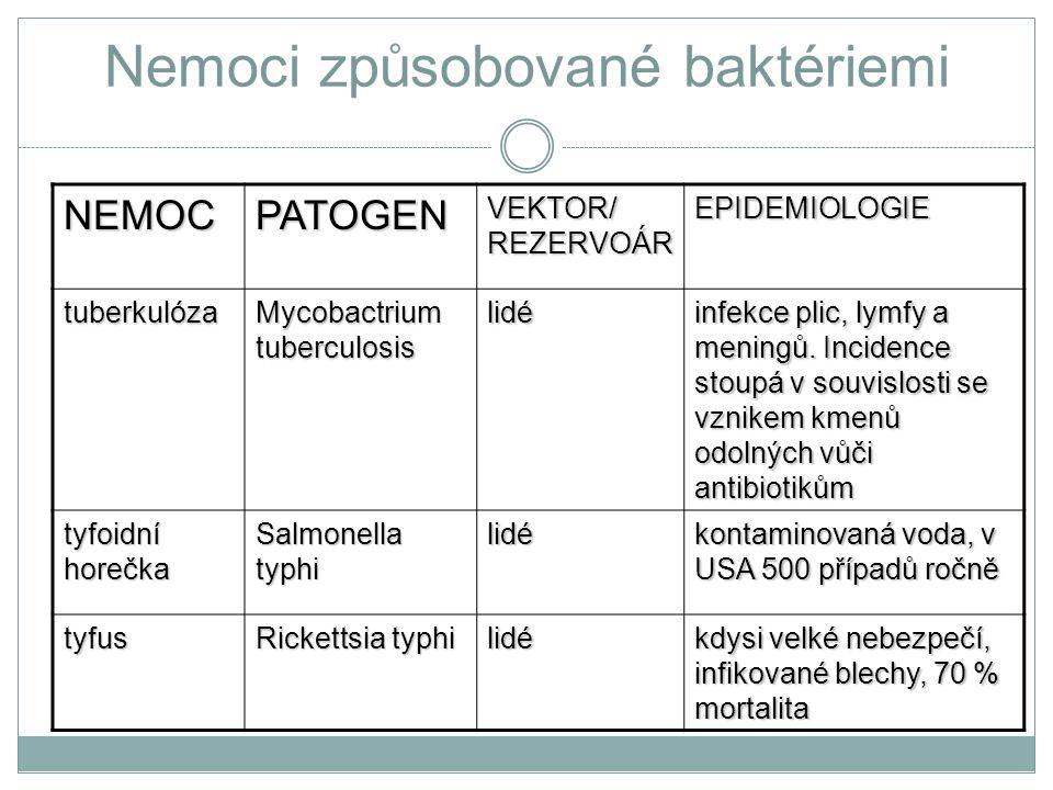 Nemoci způsobované baktériemi