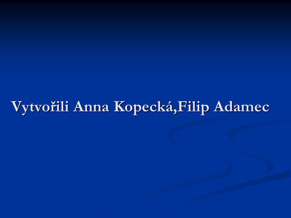 Vytvořili Anna Kopecká,Filip Adamec
