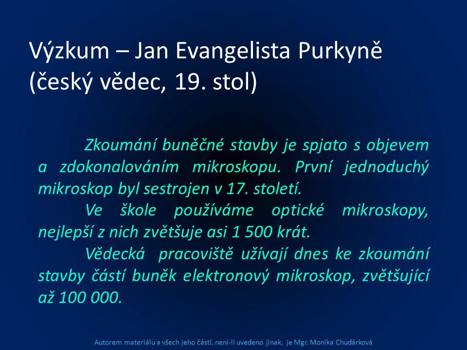 Výzkum – Jan Evangelista Purkyně (český vědec, 19. stol)