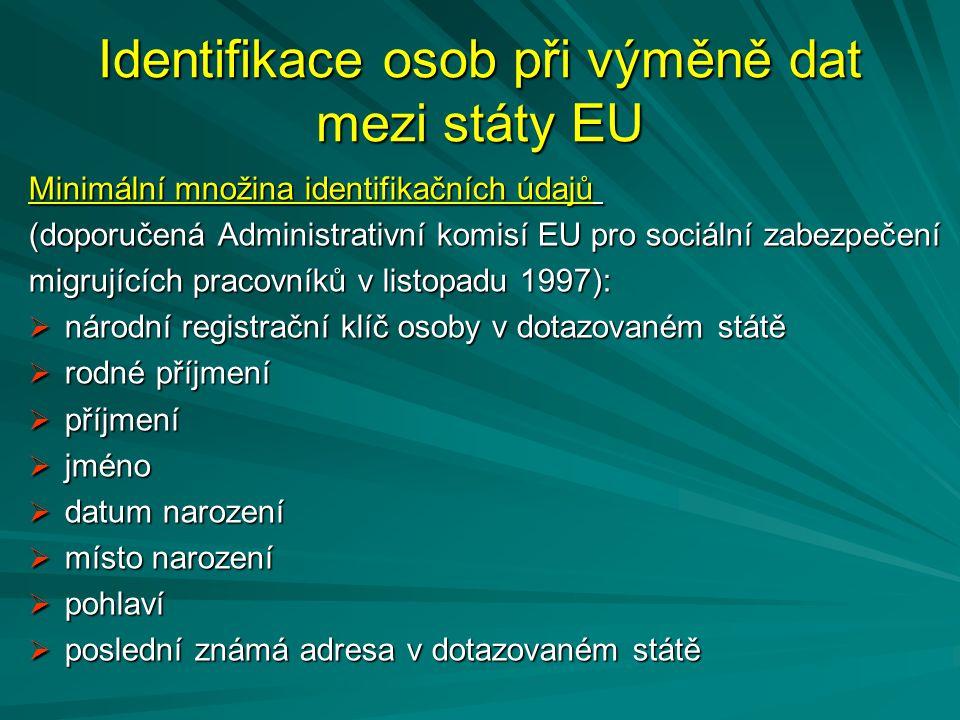 Identifikace osob při výměně dat mezi státy EU