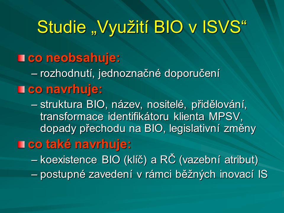 """Studie """"Využití BIO v ISVS"""