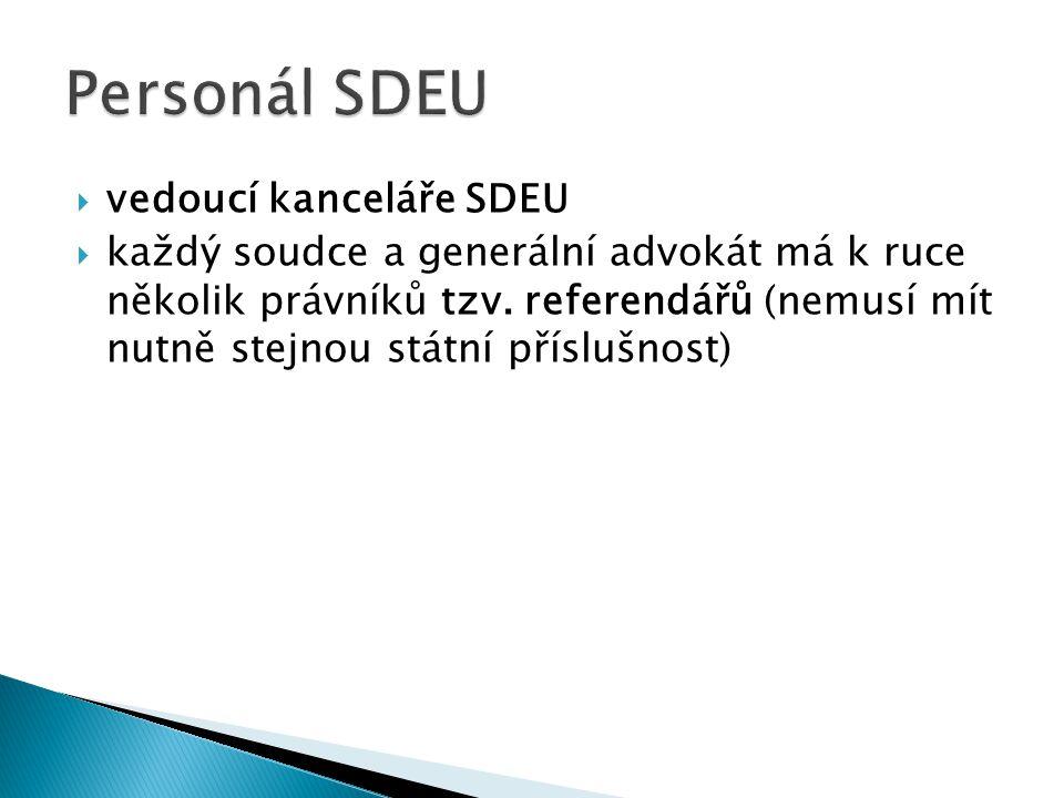 Personál SDEU vedoucí kanceláře SDEU