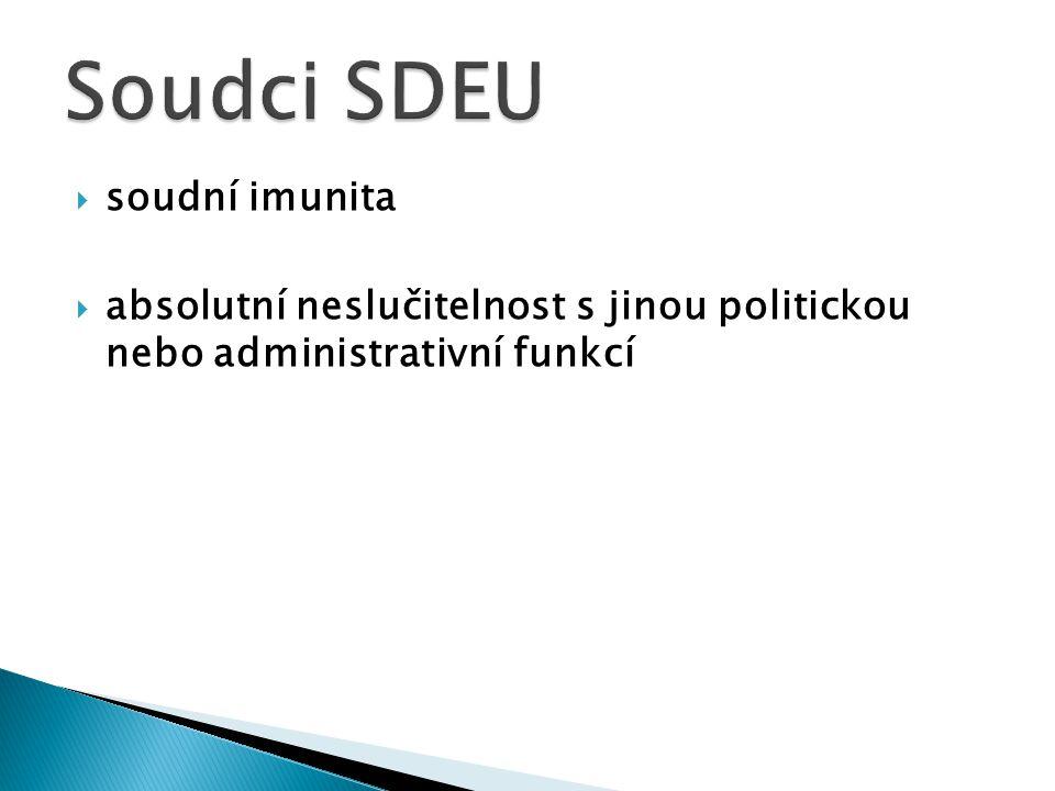 Soudci SDEU soudní imunita