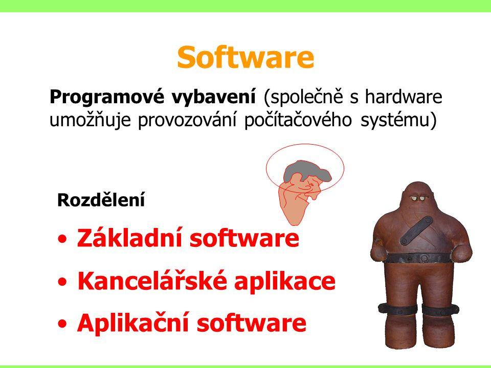 Software Základní software Kancelářské aplikace Aplikační software