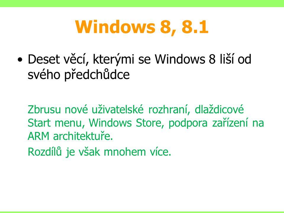 Windows 8, 8.1 Deset věcí, kterými se Windows 8 liší od svého předchůdce.