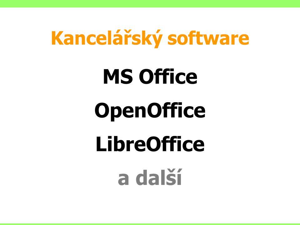 MS Office OpenOffice LibreOffice a další