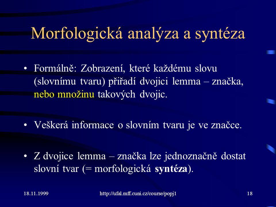 Morfologická analýza a syntéza