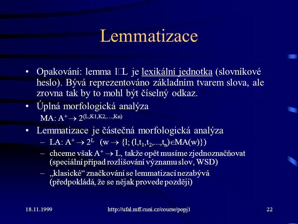 Lemmatizace